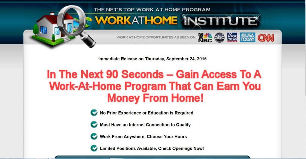 Work At Home Institute Scam Or Legit