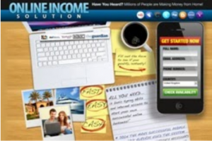 Screen caption of Online Income homepage