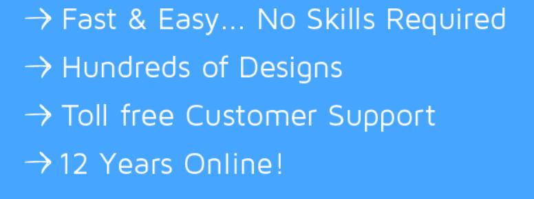 make my own website free