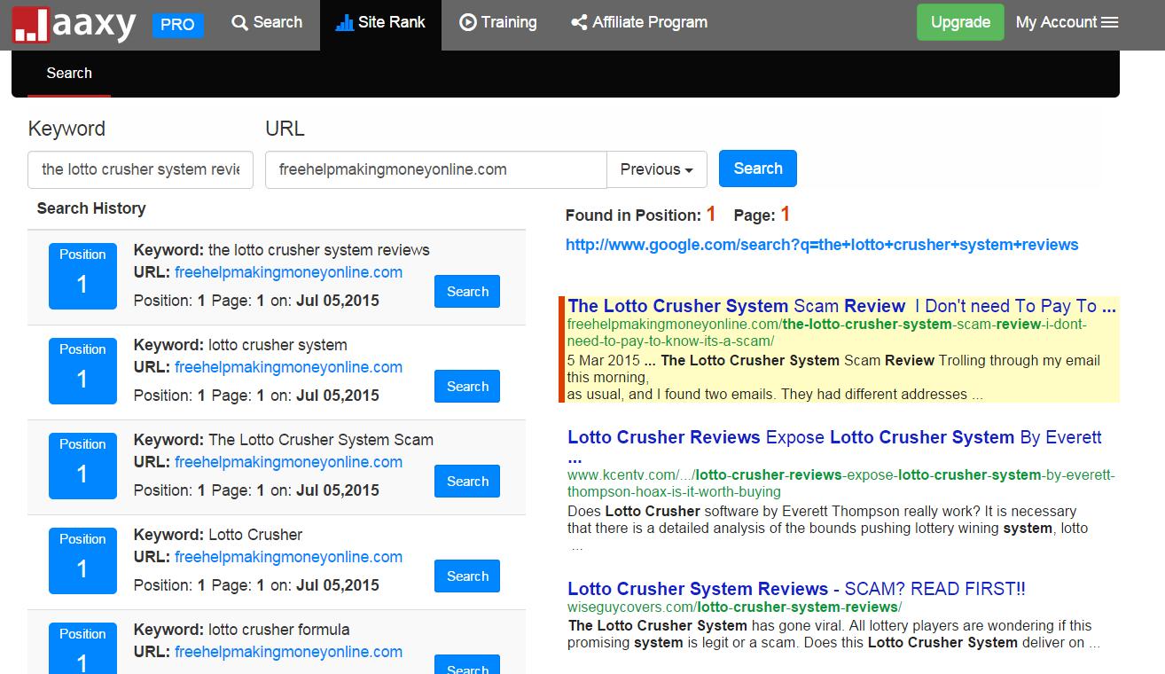 Google ranking checker tool