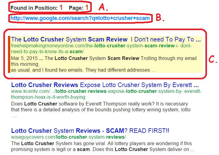 Keyword ranking checker tool