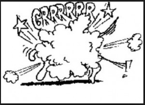Cartoon Drawing of animals fighting