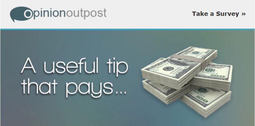 "A stack of money next to yhe words ""A useful tip that pays"""
